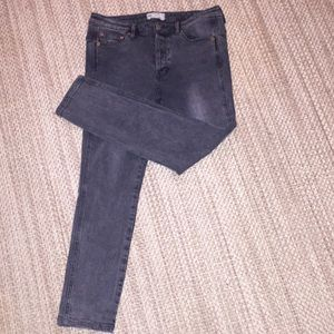 Free People Semi Acid Wash Skinny Jeans Black 27